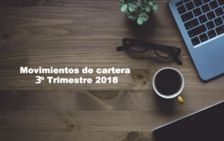 movimientos de cartera 3º trimestre 2018